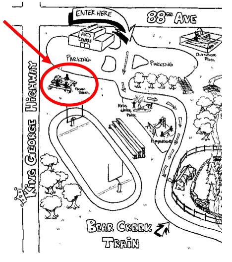 Map of Bear Creek Park